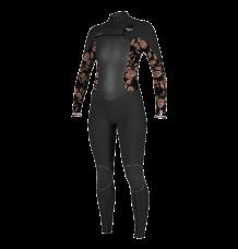 O'neill Women's Psychotech 5/4+ Chest Zip Wetsuit (Black/Flo)