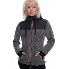 686 Womens Polar Zip Fleece Hoody (Black)