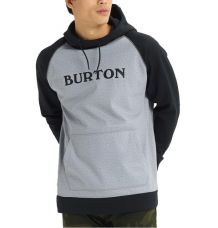 Burton Crown Bonded Pullover Hoodie (Heather/Black)