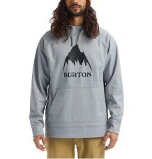 Burton Crown Bonded Pullover Hoodie (Heather Grey)