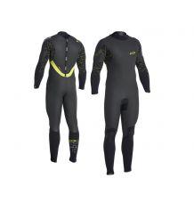 ION Mens Hybrid Amp Semidry 5/4mm Wetsuit (Black/Black)