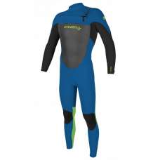 O'Neill Youth Epic 3/2mm Chest Zip Wetsuit (Ocean/Black/Dayglo) 2020