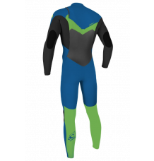 O'Neill Youth Epic 4/3mm Wetsuit (Ocean/Dayglo) 2020