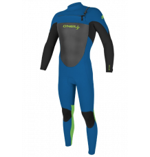 O'Neill Youth Epic 4/3mm Wetsuit (Ocean/Dayglo)