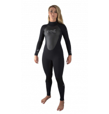 O'Neill Womens Epic 5/4mm Wetsuit (Black/Black)