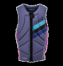 O'Neill Girls Slasher Impact Vest (Berry/Navy)