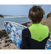 O'Neill Youth Hyperfreak 5/4+ Chest Zip Wetsuit (Abyss/Dayglo)
