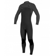 O'Neill Youth Hyperfreak 4/3mm Chest Zip Wetsuit (Black/Graph) 2020