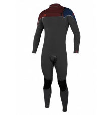 O'Neill Youth Psycho One 4/3mm Chest Zip Wetsuit (Raven/Widow/Abyss) 2020