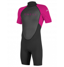 O'Neill Youth Reactor II 2mm Shortie Wetsuit (Black/Berry)