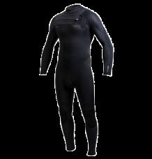 O'Neill Hyperfreak 3/2+mm Chest Zip Wetsuit (Black/Black) 2020