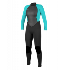 O'Neill Womens Reactor II 3/2mm Wetsuit (Black/Light Aqua) 2020