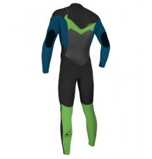 O'Neill Youth Epic 4/3mm Chest Zip Wetsuit (Black/Ultra/Day Glo)