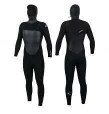 O'Neill Epic 6/5mm Chest Zip Hooded Wetsuit (Black) 2020