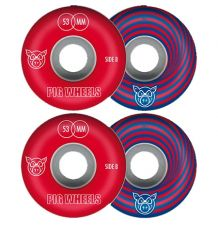 Pig Vertigo Red Skate Wheels (53mm)
