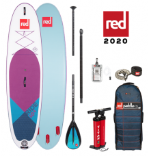 """Red Paddle Co, 10'6 x 32"""" Ride MSL Purple SUP Package 2020 - Alloy Package"""