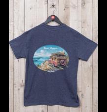 "Rietveld ""Surf Trippin"" T-Shirt (Heather Navy)"