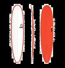 """Torq 8'6"""" Longboard Surfboard (Pinline Red) - Wetndry Boardsports"""