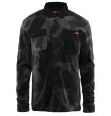 ThirtyTwo Reststop Polar Fleece Shirt (Black/Cammo) - Wetndry Boardsports