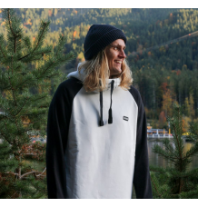 bro! chill n'shred hoodie (Bone/Black) - Wetndry Boardsports