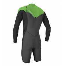 O'Neill Hammer 2mm Long Arm Shorty Wetsuit (Graph/Black/Dayglo)