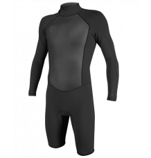 O'Neill Original 2mm Long Sleeve Shorty Wetsuit (Black/Black)