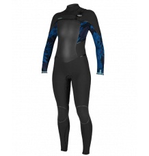 O'neill Women's Psychotech 5/4+ Chest Zip Wetsuit (Black/Faro)