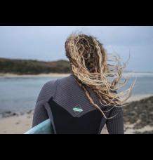 O'Neill Womens Hyperfreak 5/4+ Chest Zip Wetsuit (Abyss/Dusk)