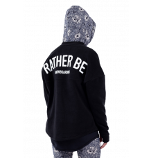 "Eivy ""Rather Be"" Boxy Fleece (Black)"