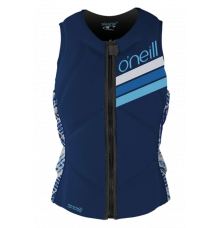 O'Neill Womens Slasher Comp Impact Vest (Navy/Indy Patch)
