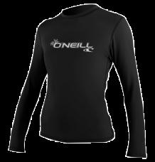 O'Neill Womens Basic Skins LS Rashvest (Black)