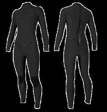 O'Neill Womens Psychotech 5/4mm Wetsuit (Black)