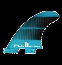 FCS II Performer Medium Neo Glass Tri Fins (Teal)