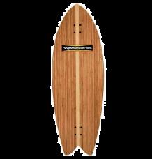 "Hamboards Pescadito 4'3"" Surf Skate Shortboard (Bamboo)"