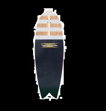 "Hamboards Fish 4'5"" Surf Skate Shortboard (River Jetties)"