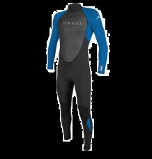 O'Neill Youth Reactor II 3/2mm Wetsuit (Black/Ocean)