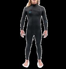 Dakine Mission 4/3mm Chest Zip Wetsuit (Black)