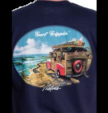 Rietveld Surf Trippin Tshirt (Navy)