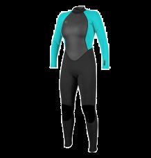 O'Neill Womens Reactor II 3/2mm Wetsuit (Black/Light Aqua)