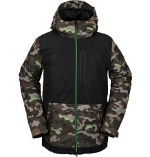 Volcom Deadly Stones Ins Snowboard Jacket (Army)