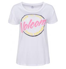 Volcom Womens Easy Babe Rad 2 Tshirt (White) - Wetndry Boardsports