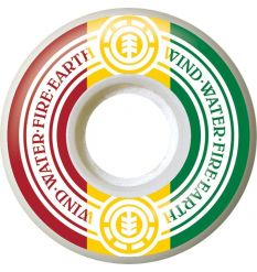 Element Rasta Skateboard Wheels (53mm)