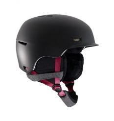 Anon Raven Womens Snowboard Helmet (Black)