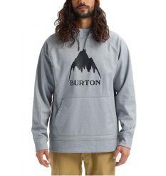 Burton Crown Bonded Pullover Hoodie (Heather Grey)