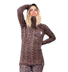 Eivy Icecold hooded top (Leopard) - Wetndry Boardsports