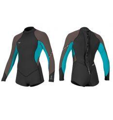 O'Neill Bahia L/S Short Spring Wetsuit (Black/Capri/Pepper) - Wetndry Boardsports