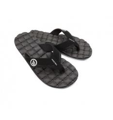 Volcom Recliner Sandal (Black/White) - Wetndry Boardsports