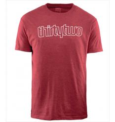 ThirtyTwo Ridelite Logo Tshirt (Red) - Wetndry Boardsports