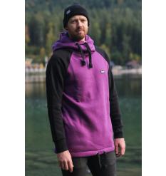 bro! chill n'shred hoodie (Black/Burgundy) - Wetndry Boardsports