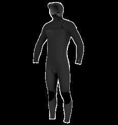 O'neill Youth Hyperfreak 5.5/4+ Hooded Chest Zip Wetsuit (Black/Black)